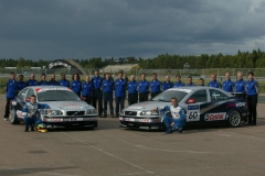 Volvo race team 2 cars